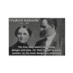 Man and Woman: Nietzsche Rectangle Magnet (100 pac