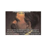 Master of Prose: Nietzsche Rectangle Magnet (100 p