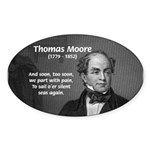Irish Poet: Thomas Moore Oval Sticker