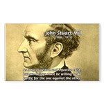 Utilitarianism John Mill Rectangle Sticker