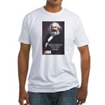 Union of Workers: Marx Fitted T-Shirt