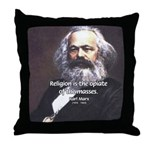 Karl Marx Religion Opiate Masses Throw Pillow