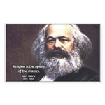 Karl Marx Religion Opiate Masses Sticker (Rectangu