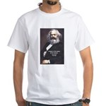 Karl Marx Religion Opiate Masses White T-Shirt