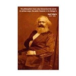 Power of Change Karl Marx Mini Poster Print