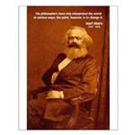 Power of Change Karl Marx Small Poster