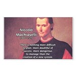 Political Theory: Machiavelli Sticker (Rectangular