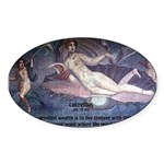 Rome Philosophy Lucretius Oval Sticker