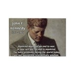 Man / War John F. Kennedy Rectangle Magnet (100 pa