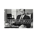 Humanist John F. Kennedy Rectangle Magnet (100 pac