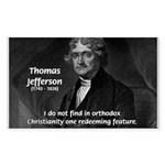 President Thomas Jefferson Rectangle Sticker