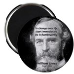 William James Life and Change Magnet