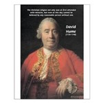 Christianity and David Hume Small Poster