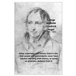 History Lessons Georg Hegel Large Poster