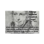 History Lessons Georg Hegel Rectangle Magnet (10 p