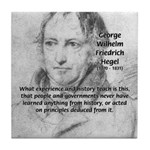 History Lessons Georg Hegel Tile Coaster