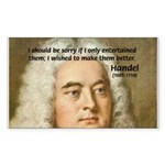Handel's Messiah Rectangle Sticker