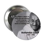 "Gandhi Religion Non-violence 2.25"" Button (10 pack"