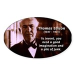 Imagination Thomas Edison Oval Sticker