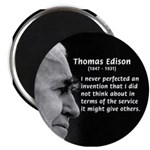 "Inventor Thomas Edison 2.25"" Magnet (10 pack)"