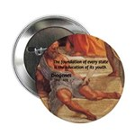 "Cynic Philosophy Diogenes 2.25"" Button (10 pack)"