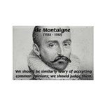 Individual Freedom Montaigne Rectangle Magnet (100