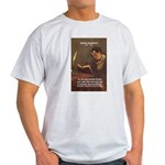 French Poets Baudelaire Ash Grey T-Shirt