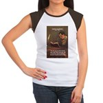 French Poets Baudelaire Women's Cap Sleeve T-Shirt