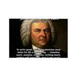 Glory God Music J. S. Bach Rectangle Magnet (100 p