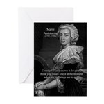 Courage Marie Antoinette Greeting Cards (Package o