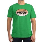 Labrador Woof Men's Fitted T-Shirt (dark)