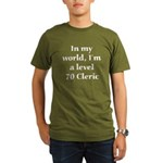Level 70 Cleric Organic Men's T-Shirt (dark)