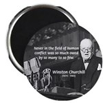 World War II Churchill Magnet