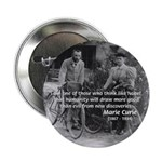 Marie & Pierre Curie Good Evil Button