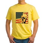 American Baseball Yellow T-Shirt