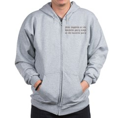 At the Bachelor Party Zip Hoodie