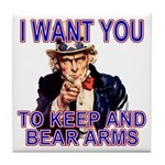 Uncle Sam Keep And Bear Arms Tile Coaster