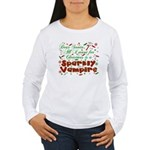 Dear Santa Sparkly Vampire Women's Long Sleeve T-S