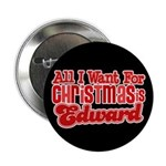 Edward Christmas 2.25&quot; Button (100 pack)