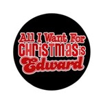 Edward Christmas 3.5&quot; Button