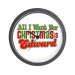 Christmas Edward Wall Clock