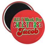 "Christmas Jacob 2.25"" Magnet (100 pack)"