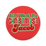 "Christmas Jacob 3.5"" Button (100 pack)"