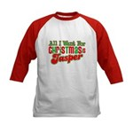 Christmas Jasper Kids Baseball Jersey