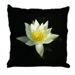 water lily/lotus throw pillow
