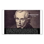 Immanuel Kant Reason Rectangle Sticker