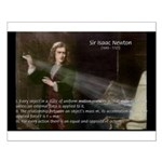 Isaac Newton Laws Motion Small Poster
