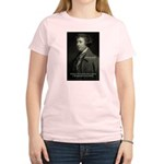 Edmund Burke: Good & Evil Women's Pink T-Shirt
