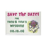 Save the Date Wed Rectangle Magnet (10 pack)