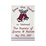Save the Date Bells Rectangle Magnet (10 pack)